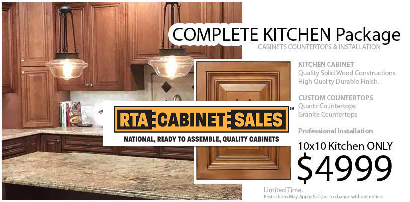 Complete Kitchen Package RTA Cabinet Sales