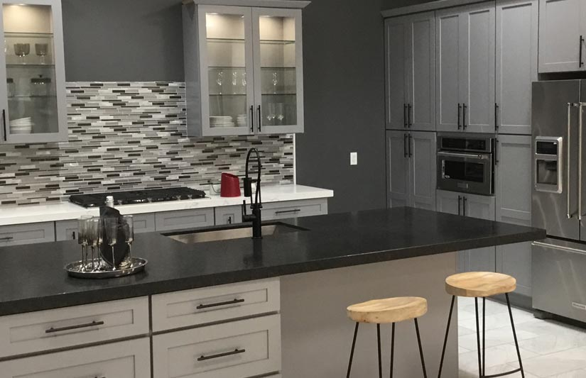 Gray Shaker cabinets RTA Cabinet Sales