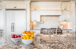 Cream Orange County CA Granite kitchen - Los Angeles RTA Cabinet Sales