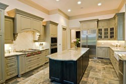 Granite kitchen green cabinets - Los Angeles RTA Cabinet Sales