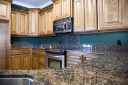 Orange County CA Dark Granite kitchen - Los Angeles RTA Cabinet Sales